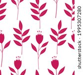 seamless pattern pink plants...   Shutterstock .eps vector #1995307280