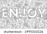 enjoy. cute hand drawn coloring ... | Shutterstock .eps vector #1995310226