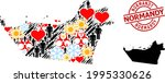 distress normandy seal  and...   Shutterstock .eps vector #1995330626