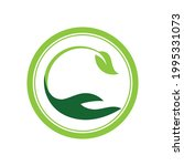 creative hand and leaf logo... | Shutterstock .eps vector #1995331073