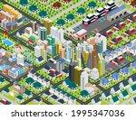 illustration big city isometric ...   Shutterstock .eps vector #1995347036