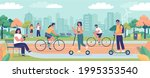 modern green ecology city with...   Shutterstock .eps vector #1995353540