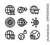 global market icon or logo...   Shutterstock .eps vector #1995354533