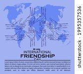 international friendship day ...   Shutterstock .eps vector #1995357536