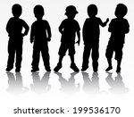 boy silhouette | Shutterstock .eps vector #199536170