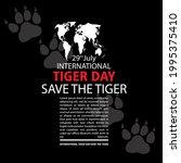 international tiger day  save...   Shutterstock .eps vector #1995375410