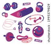 sports equipment. isolated... | Shutterstock .eps vector #1995379829