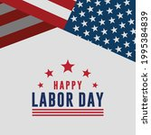happy labor day vector greeting ... | Shutterstock .eps vector #1995384839