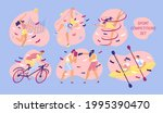 set with sport situations....   Shutterstock .eps vector #1995390470