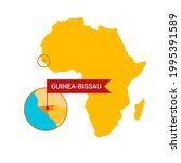 guinea bissau on an africa s...   Shutterstock .eps vector #1995391589