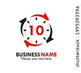 number 10 rotation logo...   Shutterstock .eps vector #1995393596