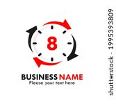 number 8 rotation logo template ...   Shutterstock .eps vector #1995393809