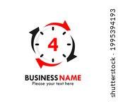 number 4 rotation logo template ...   Shutterstock .eps vector #1995394193