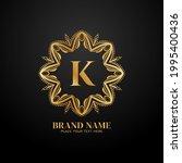 letter k luxury brand logo...   Shutterstock .eps vector #1995400436