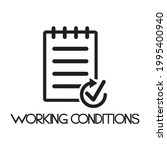 working conditions icon  ...   Shutterstock .eps vector #1995400940