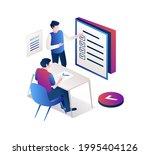 isometric illustration design...   Shutterstock .eps vector #1995404126