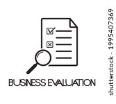 business evaluation icon  ...   Shutterstock .eps vector #1995407369