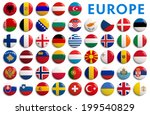 europe national country flags   ... | Shutterstock . vector #199540829