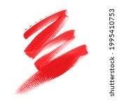 red lipstick smudge isolated on ...   Shutterstock . vector #1995410753