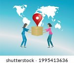 delivery all over the world....   Shutterstock .eps vector #1995413636
