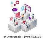 isometric illustration design... | Shutterstock .eps vector #1995423119