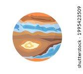 planet jupiter drawing  vector... | Shutterstock .eps vector #1995423509