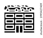 building car parking glyph icon ...   Shutterstock .eps vector #1995427409