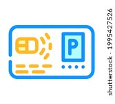 pass card parking color icon...   Shutterstock .eps vector #1995427526