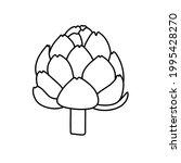 artichoke. vegetable sketch.... | Shutterstock .eps vector #1995428270
