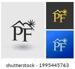 pf initial logo monogram with...   Shutterstock .eps vector #1995445763