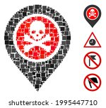 mosaic dangerous zone pointer...   Shutterstock .eps vector #1995447710