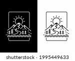 black and white mountain...   Shutterstock .eps vector #1995449633