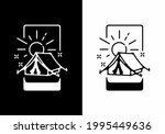 black and white camping tent...   Shutterstock .eps vector #1995449636