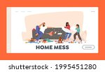 home mess landing page template....   Shutterstock .eps vector #1995451280