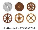old wheels  primitive stone... | Shutterstock .eps vector #1995451283