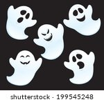five ghosts with different... | Shutterstock .eps vector #199545248