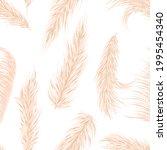 dry pampas grass seamless...   Shutterstock .eps vector #1995454340