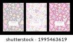 school notebook cover. set... | Shutterstock .eps vector #1995463619