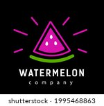 abstract pink slice watermelon. ... | Shutterstock .eps vector #1995468863