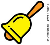 yellow color bell clipart...   Shutterstock .eps vector #1995470846