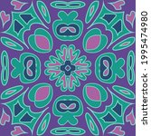floral pattern flourish tiled...   Shutterstock .eps vector #1995474980