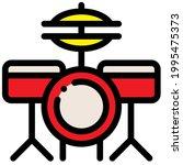 drum kit symbol on white... | Shutterstock .eps vector #1995475373