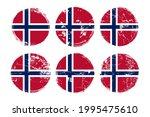 norway flag grunge textures set....   Shutterstock .eps vector #1995475610