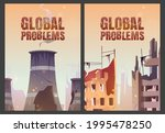 global problems posters with... | Shutterstock .eps vector #1995478250