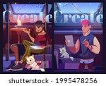 create cartoon motivational... | Shutterstock .eps vector #1995478256
