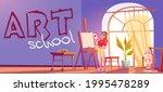art school cartoon banner.... | Shutterstock .eps vector #1995478289