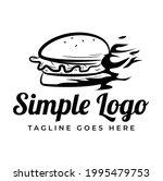 a simple line art hot burger... | Shutterstock .eps vector #1995479753