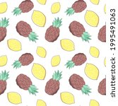 seamless pattern with... | Shutterstock .eps vector #1995491063