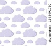 seamless pattern with cartoon... | Shutterstock .eps vector #1995491750