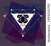 aries horoscope sign  creative... | Shutterstock .eps vector #1995520703